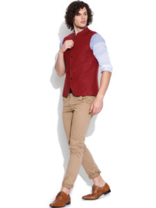 Red Nehru Jacket